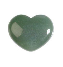 Aventurijn (groen) edelsteen hart 4 cm