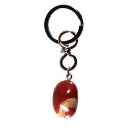 Jaspis (rood) sleutelhanger
