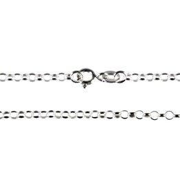 Zilveren ketting rolo 45 cm