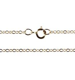 Gold filled ketting kabel plat 40 cm