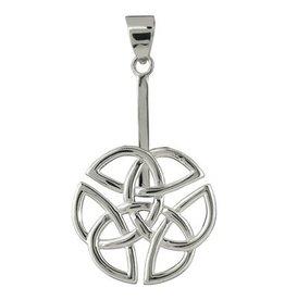 Zilveren houder voor donut hangers Keltische knoop (voor donuts vanaf 3 cm)