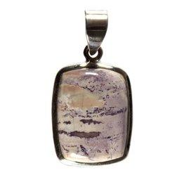 Zilveren hanger tiffany stone rechthoek 2 x 1,5 cm
