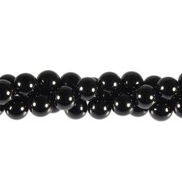 Spinel (zwart) kralen rond 8 mm (streng van 40 cm)