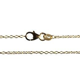Gouden (14k) ketting anker 50 cm 1,5 mm dik