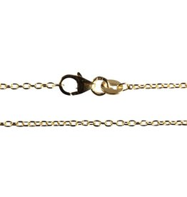 Gouden ketting anker 50 cm 1,5 mm dik