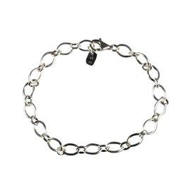 Zilveren armband schakels ovaal & rond