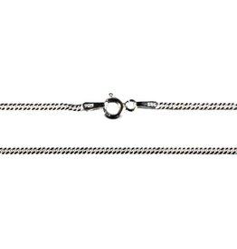 Zilveren ketting gourmet 60 cm