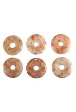 Zonnesteen hanger donut 3 cm