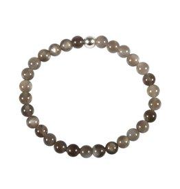 Maansteen (grijs) armband 18 cm | 6 mm kralen