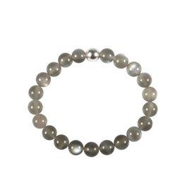 Maansteen (grijs) armband 18 cm | 8 mm kralen