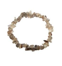 Maansteen (grijs) armband split