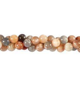 Maansteen (multicolour) kralen rond 8 mm (streng van 40 cm)