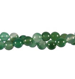 Agaat (groen) kralen rond 10 mm (snoer van 40 cm)