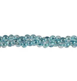 Aqua aura kwarts kralen rond 6 mm (snoer van 40 cm)