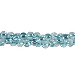 Aqua aura kwarts kralen rond 8 mm (snoer van 40 cm)