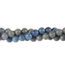 Aventurijn (blauw) kralen rond 8 mm (snoer van 40 cm)