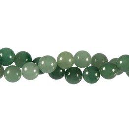 Aventurijn (groen) kralen rond 10 mm (streng van 40 cm)