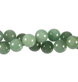 Aventurijn (groen) kralen rond 12 mm (streng van 40 cm)