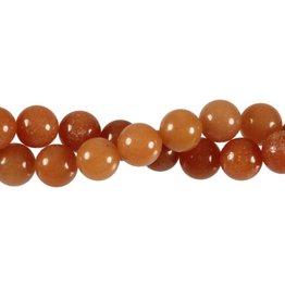 Aventurijn (rood) kralen rond 10 mm (snoer van 40 cm)