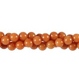 Aventurijn (rood) kralen rond 8 mm (snoer van 40 cm)