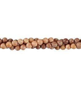 Bariet kralen rond 6 mm (snoer van 40 cm)