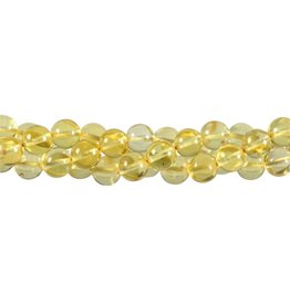Barnsteen (geel) kralen rond 8 mm (snoer van 40 cm)