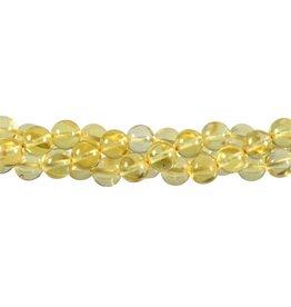 Barnsteen (geel) kralen rond 8 mm (streng van 40 cm)