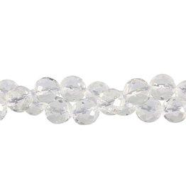 Bergkristal kralen rond facet 10 mm (streng van 40 cm)