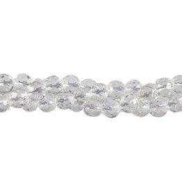 Bergkristal kralen rond facet 8 mm (snoer van 40 cm)
