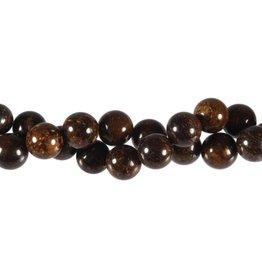 Bronziet kralen rond 10 mm (snoer van 40 cm)