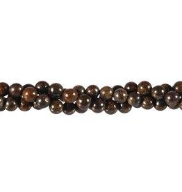 Bronziet kralen rond 6 mm (streng van 40 cm)
