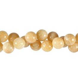 Calciet (geel) kralen rond 12 mm (snoer van 40 cm)