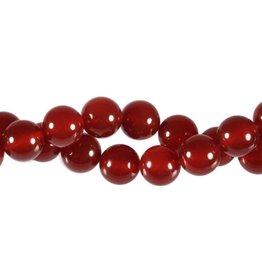 Carneool kralen rond 10 mm (snoer van 40 cm)