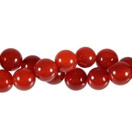 Carneool kralen rond 12 mm (snoer van 40 cm)