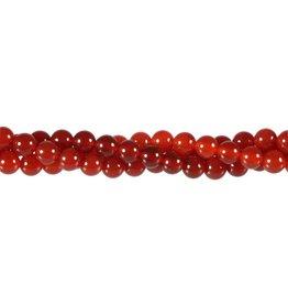 Carneool kralen rond 6 mm (snoer van 40 cm)