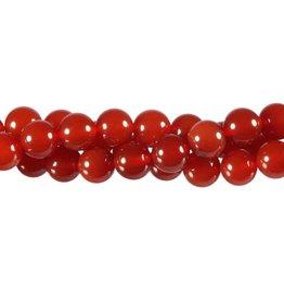 Carneool kralen rond 8 mm (snoer van 40 cm)