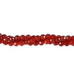 Carneool kralen rond facet 6 mm (snoer van 40 cm)