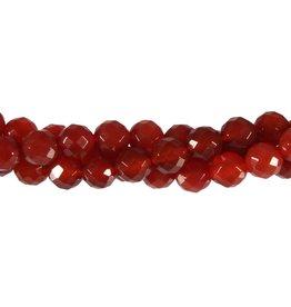 Carneool kralen rond facet 8 mm (snoer van 40 cm)
