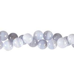 Chalcedoon kralen rond 10 mm (streng van 40 cm)