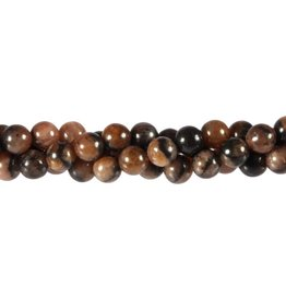 Chiastoliet kralen rond 8 mm (snoer van 40 cm)