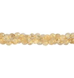 Citrien kralen rond facet 6 mm (snoer van 40 cm)