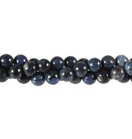Dumortieriet kralen rond 8 mm (streng van 40 cm)