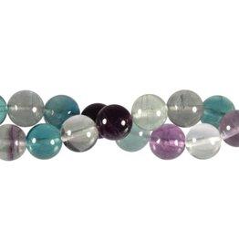 Fluoriet (multi) kralen rond 12 mm (snoer van 40 cm)