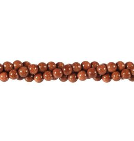 Goudsteen (rood) kralen rond 6 mm (snoer van 40 cm)