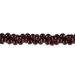 Granaat kralen rond 6 mm (streng van 40 cm)