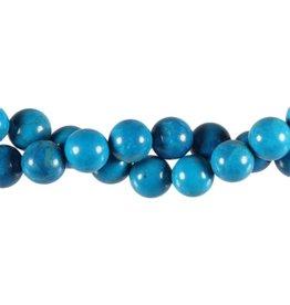 Howliet (turquoise gekleurd) kralen rond 10 mm (snoer van 40 cm)