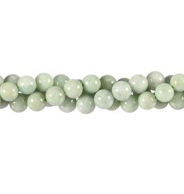 Jade (jadeiet) effen groen kralen rond 8 mm (snoer van 40 cm)