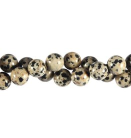 Jaspis (dalmatier) kralen rond 10 mm (snoer van 40 cm)