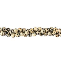 Jaspis (dalmatier) kralen rond 6 mm (snoer van 40 cm)