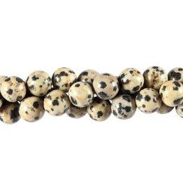 Jaspis (dalmatier) kralen rond 8 mm (snoer van 40 cm)
